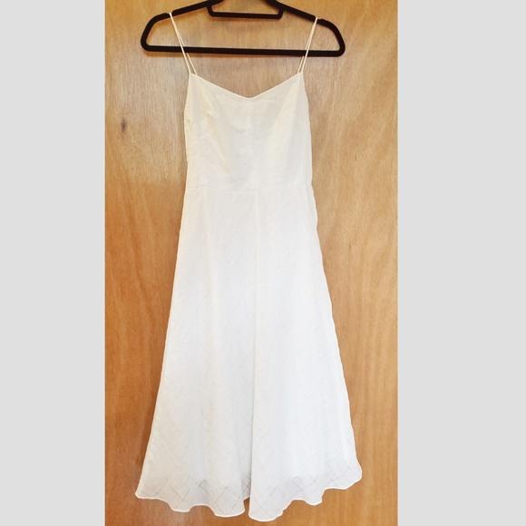 J. Crew Dresses & Skirts - J. Crew Spaghetti Strap White Cotton Dress Size 2